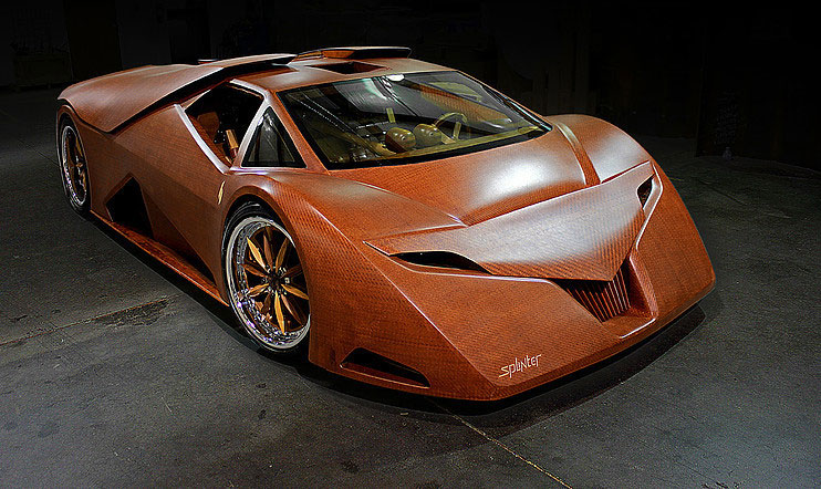 The Splinter Wooden Supercar
